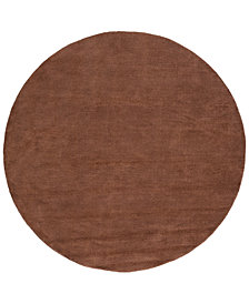 Surya Mystique M-334 Dark Brown 8' Round Area Rug