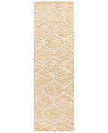"Surya Mystique M-5107 Cream 2'6"" x 8' Area Rug"