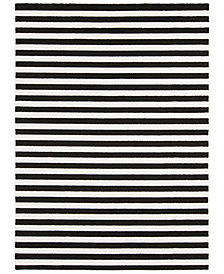"Surya Horizon HRZ-1082 Black 6'7"" x 9'6"" Area Rug"