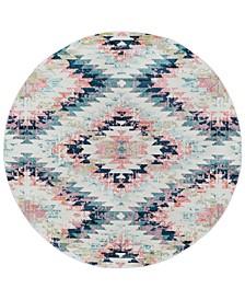 """Anika ANI-1027 White 5'3"""" Round Area Rug"""