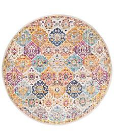 "Harput HAP-1018 Saffron 5'3"" Round Area Rug"