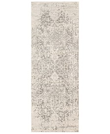 "Harput HAP-1024 Gray 2'7"" x 10'3"" Area Rug"