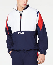 Fila Men's Marty Half-Zip Colorblocked Wind Jacket