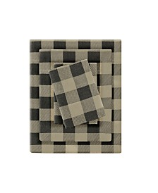 Woolrich Flannel California King Cotton Sheet Set