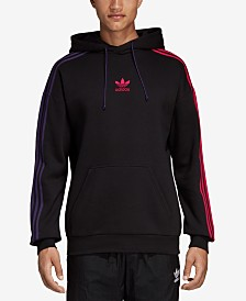 adidas Men's Originals Fleece Three-Stripe Hoodie