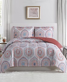 Medali 3-Pc. Reversible Full/Queen Comforter Set, Created for Macy's