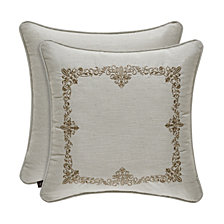 "J. Queen New York Donatella Linen 18"" Sqaure Collection Decorative Pillow"