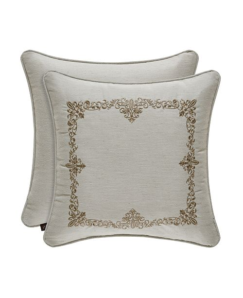 "J Queen New York J. Queen New York Donatella Linen 18"" Sqaure Collection Decorative Pillow"
