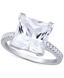 White Topaz (5-3/4 ct. t.w.) & Diamond (1/10 ct. t.w.) Ring in 14k White Gold