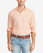 Polo Ralph Lauren Men s Classic Fit Double-Faced Gingham Shirt 4631b7ac5ed6d