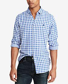 Polo Ralph Lauren Men's Classic Fit Double-Faced  Gingham Shirt
