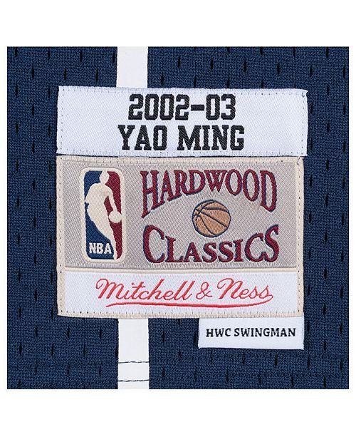248c828e5611 Mitchell   Ness Men s Yao Ming Houston Rockets Hardwood Classic Swingman  Jersey ...
