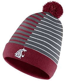 Nike Washington State Cougars Striped Beanie Knit Hat