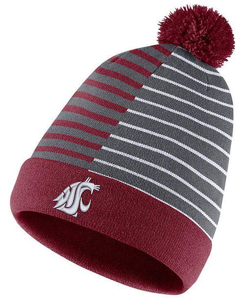 22ba11083aa Nike Washington State Cougars Striped Beanie Knit Hat   Reviews ...
