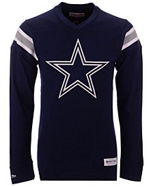 Mitchell & Ness Men's Dallas Cowboys Team Captain V-Neck Long Sleeve T-Shirt