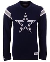 Mitchell   Ness Men s Dallas Cowboys Team Captain V-Neck Long Sleeve T-Shirt 6133d3e98