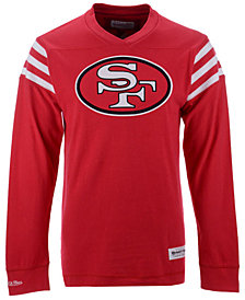 Mitchell & Ness Men's San Francisco 49ers Team Captain V-Neck Long Sleeve T-Shirt