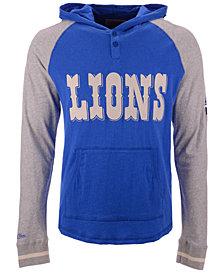 Mitchell & Ness Men's Detroit Lions Slugfest Lightweight Hooded Long Sleeve T-Shirt