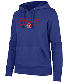 '47 Brand Women's Detroit Pistons Clean Sweep Headline Hoodie