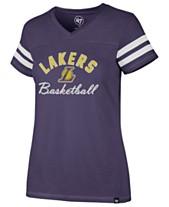 91f8c38daa4  47 Brand Women s Los Angeles Lakers Metallic Dinger V-Neck T-Shirt