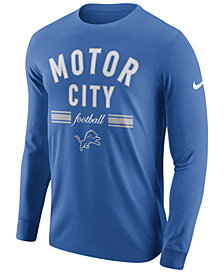 Nike Men's Detroit Lions Dri-FIT Cotton Local Long Sleeve T-Shirt
