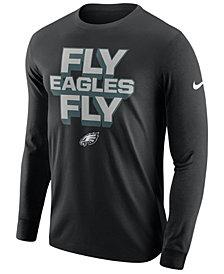 Nike Men's Philadelphia Eagles Dri-FIT Cotton Local Long Sleeve T-Shirt