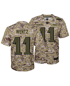 Nike Carson Wentz Philadelphia Eagles Salute To Service Jersey 2018, Big Boys (8-20)
