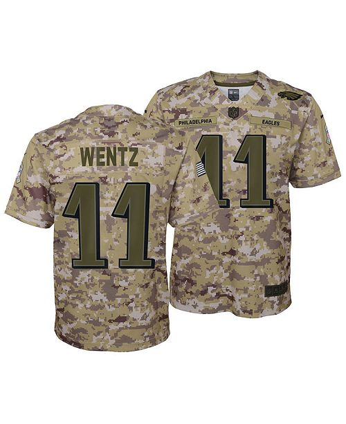 363c8f34b5c ... Nike Carson Wentz Philadelphia Eagles Salute To Service Jersey 2018,  Big Boys (8- ...