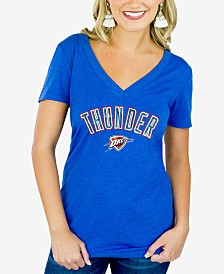 Gameday Couture Women's Oklahoma City Thunder Sequin Wordmark T-Shirt