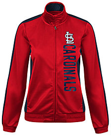 G-III Sports Women's St. Louis Cardinals Outfield Track Jacket