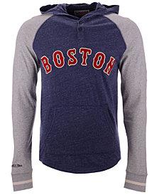 Mitchell & Ness Men's Boston Red Sox Slugfest Lightweight Hooded Long Sleeve T-Shirt
