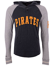 Mitchell & Ness Men's Pittsburgh Pirates Slugfest Lightweight Hooded Long Sleeve T-Shirt
