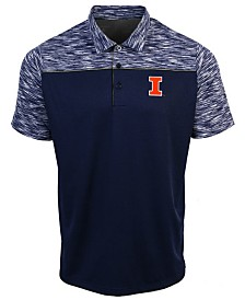 Antigua Men's Illinois Fighting Illini Final Play Polo