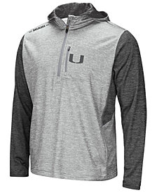 Colosseum Men's Miami Hurricanes Reflective Quarter-Zip Pullover
