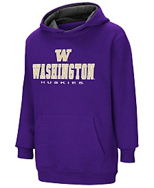Colosseum Washington Huskies Pullover Hooded Sweatshirt, Big Boys (8-20)