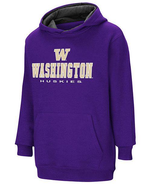 Colosseum Washington Huskies Pullover Hooded Sweatshirt, Big Boys (8-20)