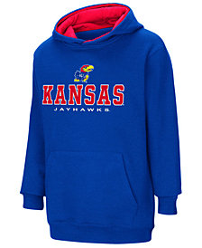 Colosseum Kansas Jayhawks Pullover Hooded Sweatshirt, Big Boys (8-20)