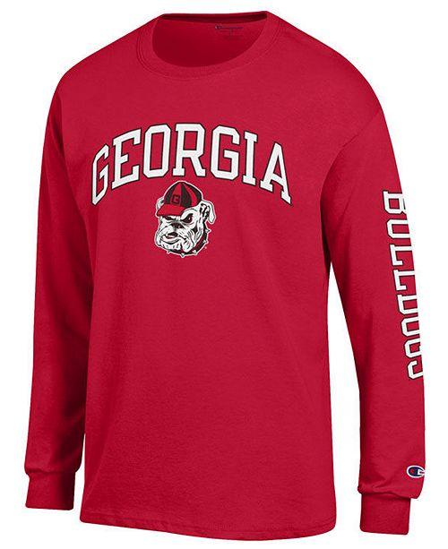 c49f7e444fe Colosseum Men s Georgia Bulldogs Midsize Slogan Long Sleeve T-Shirt ...