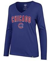 47 Brand Women s Chicago Cubs Splitter Long Sleeve T-Shirt a21954e7e