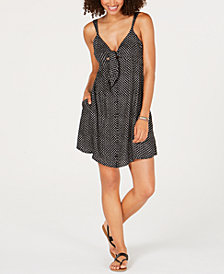 Volcom Juniors' Printed Tie-Front Dress