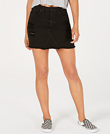 Volcom Juniors' Cotton Denim Mini Skirt