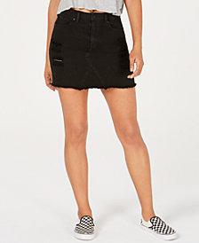 Volcom Juniors' Cotton Denim Mini Skirt