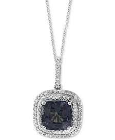 """EFFY® Grey Spinel (2-5/8 ct. t.w.) & Diamond (1/4 ct. t.w.) 18"""" Pendant Necklace in 14k White Gold"""