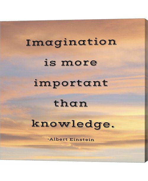 Metaverse Imagination Quote by Veruca Salt Canvas Art