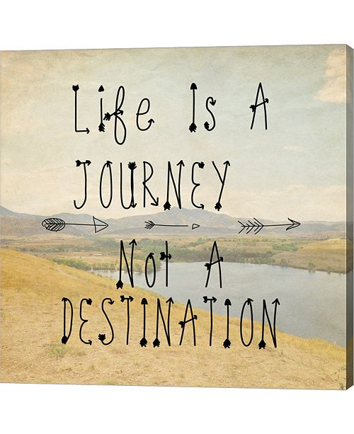 Metaverse Life is A Journey Quote by Veruca Salt Canvas Art