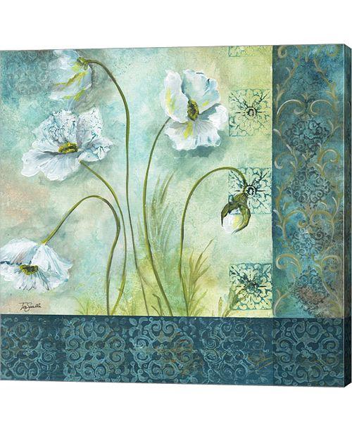 Metaverse White Poppy Garden II by Tre Sorelle Studios Canvas Art