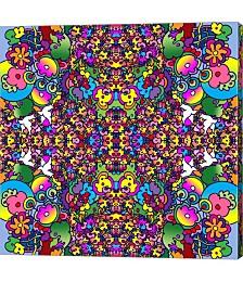Flowers Kalidescope by Howie Green Canvas Art