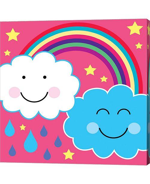 Metaverse Rain Cloud 2 by Louise Carey Canvas Art