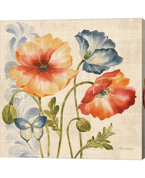 Metaverse Watercolor Poppies Multi I by Pamela Gladding Canvas Art