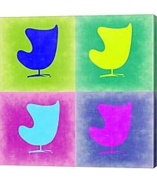 Egg Chair Pop Art 1 by Naxart Canvas Art
